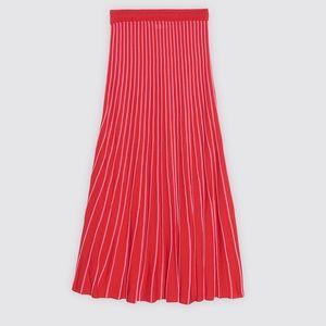 Sandro Midi Two Tone Knit Skirt
